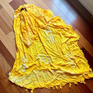Golden Yellow Swimsuit Coverup Wrap style